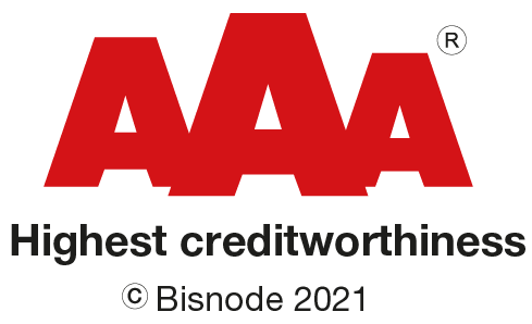 Bisnode 2021 AAA Highest creditworthiness
