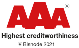 Bisnode AAA Rating - Highest creditworthiness