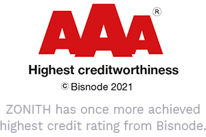 ZONITH has once more achieved highest credit rating from Bisnode.